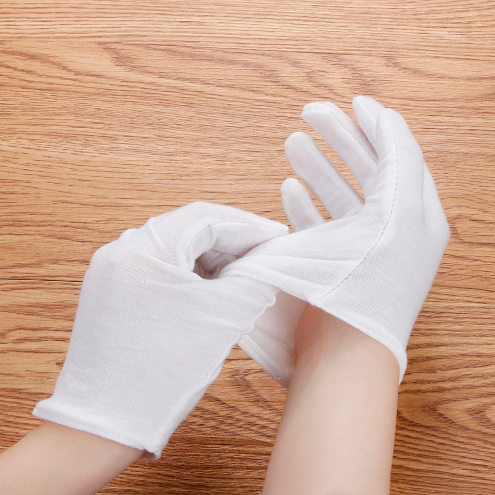 1 par de calcetines hidratantes guantes blancos crema de humedad cuidado de las manos suave belleza cuidado de las manos guantes de SPA Eco-friend