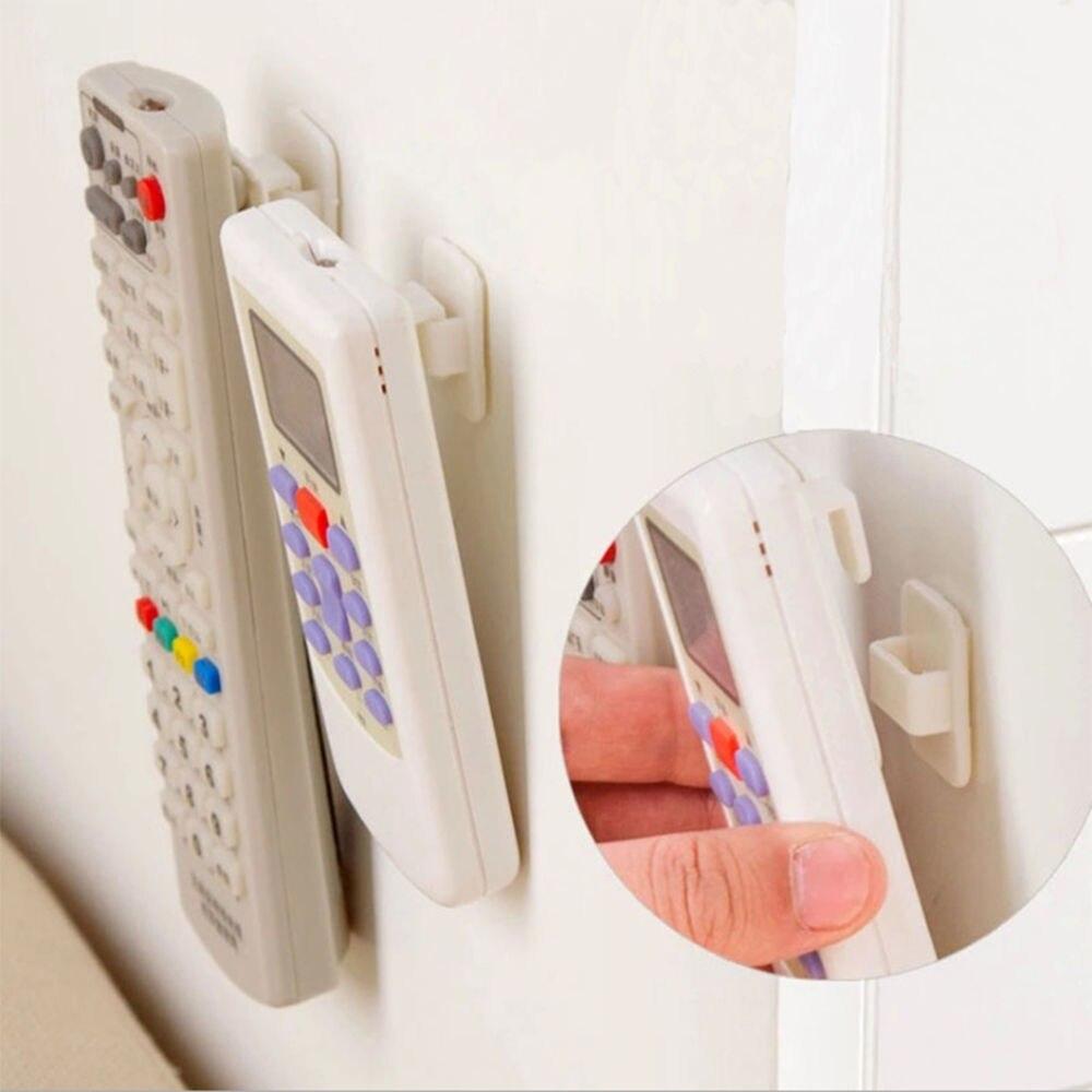 Пластиковые Крючки, 2 пары (4 шт.), набор липких крючков для телевизора, кондиционера, пульта дистанционного управления, практичный держатель для хранения на стену, крепкая вешалка