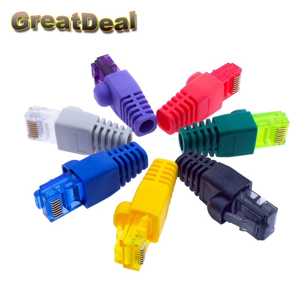 Colorful CAT5 CAT5e RJ45 Connector RJ45 Modular Plugs Network Ethernet Cable Plug RJ45 Connectors HY1544 20pcs lot network jack pvc plug of rj45 connectors rj45 boots caps cat5e cat6 10colors or each color 20pcs