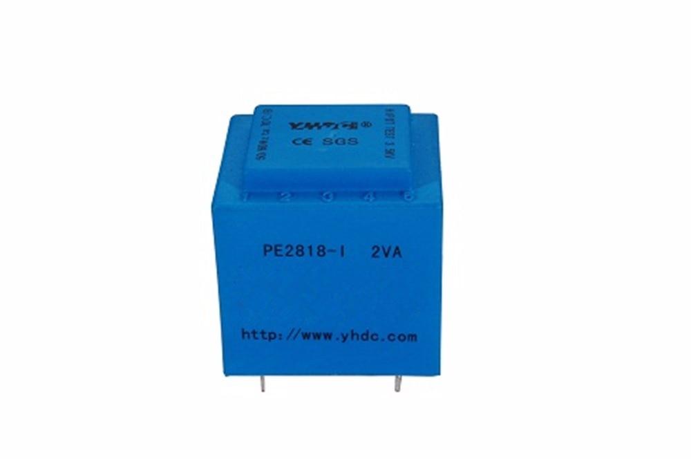 YHDC PE2818-I Power 2VA 110 v/2*6 v Gekapselte transformator für PCB Montiert isolation transformator