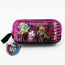 Envío Gratis estuche de lápices Monster High original Bolsa Escolar de gran capacidad estuche de lápices regalo de Navidad