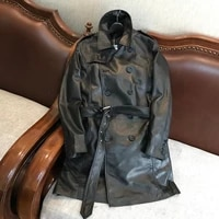 japan style italy uncoated genuine leather lamb skin leather male long windbreaker motorcycle jacket