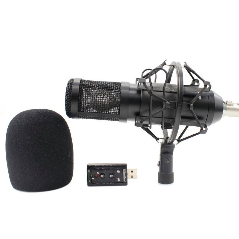 ميكروفون Mikrofon bm 800 محدّث BM900 KTV ميكروفون احترافي لاستديو الصوت صوت صوتي تسجيل ميكروفون لصدمة الكمبيوتر