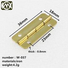KIMXIN charnière pour boîte à cigare   Accessoires de quincaillerie pour boîte en bois, Mini charnière de 36mm de long, équipée avec vis