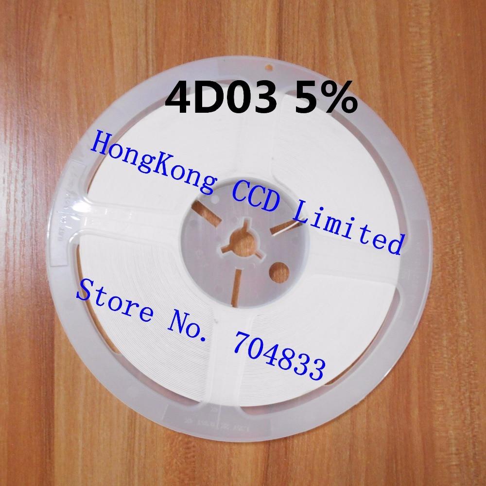 10000pcs/lot 4D03 5% 1/16W 0603*4 SMD Resistor 4D03 0R 1R-10M 5% resistor in reel 4D03 chip fixed resistor
