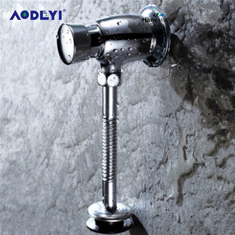 AODEYI-مبولة مرحاض نحاسية ، صمام رشاش للحمام ، إغلاق ذاتي ، ضغط حائط ممتد