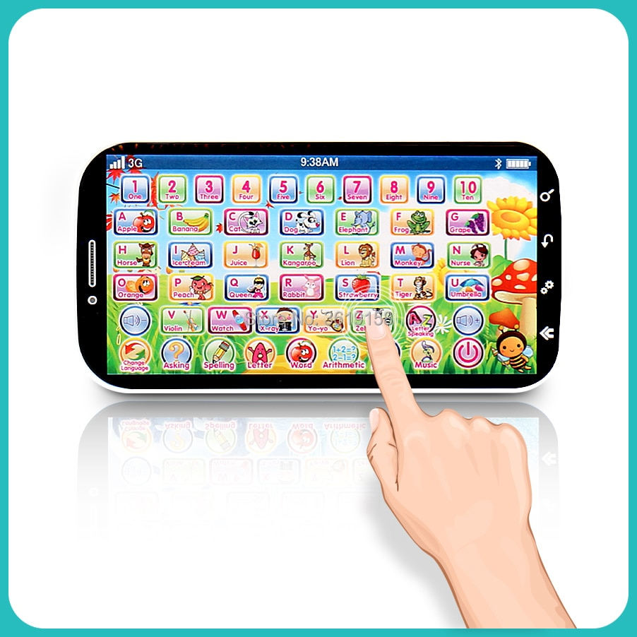 English Language Learning Machine Multifunction Toy Phone,ABC Letter Word Number Musical Yphone for