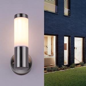 Fashion Nordic Wall Light Fixtures Creative Stainless Steel Waterfool Wall Lamps Bedroom Lamp Indoor Lighting Outdoor Wandlamp