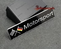 1 pcs aluminum alloy 3d german motorsport badge emblem body sticker 120mm26mm good quality car styling