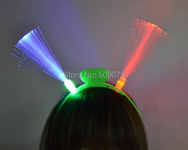 Freies verschiffen 10 teile/los Flashing Glasfaser Haar Assorted Led Headwear Für Party Mädchen Kleid