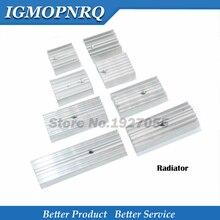 10pcs 백색 알루미늄 방열판 방열기 TO220 새로운 고품질을위한 15*10*16/20/22/25/30/40/50mm 트랜지스터 TO-220