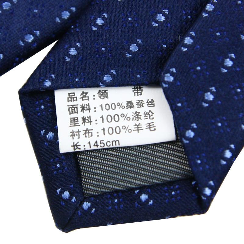 High Quality Jacquard 100% Natural Silk Tie 8.5cm Classic Handmade Necktie Business Wedding Men Gift