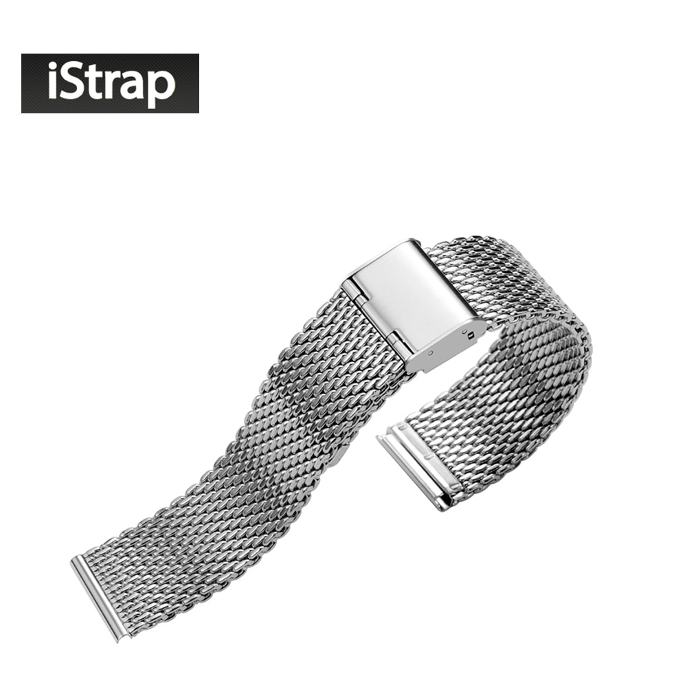 Top Grade 12 14 16 18 20  22 24mm  316L Stainless Steel Wrist Bracelet Watch bands for Breitling Watchband Adjustable Flat End