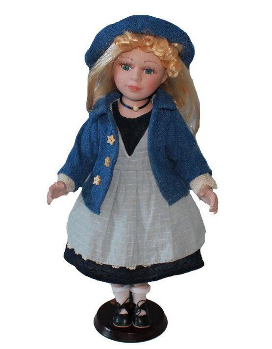 40cm porcelain leisure Rural  girl doll European rural Field Village ceramic doll style home decoration