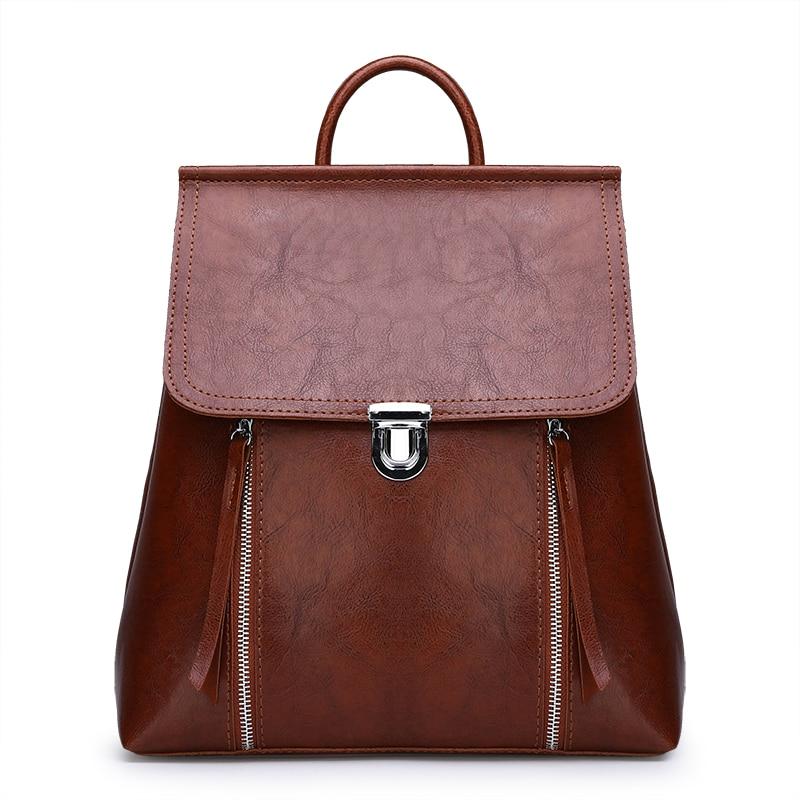 Fashion Women PU Leather Backpack Travel Bag Luxury Designer School Bags For Teenage Girls Casual Female Shoulder Laptop Bag