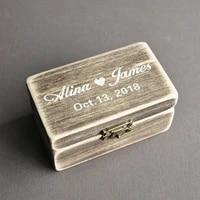 personalized wood ring box engagement ring box customized wedding ring holder box valentines ring bearer box