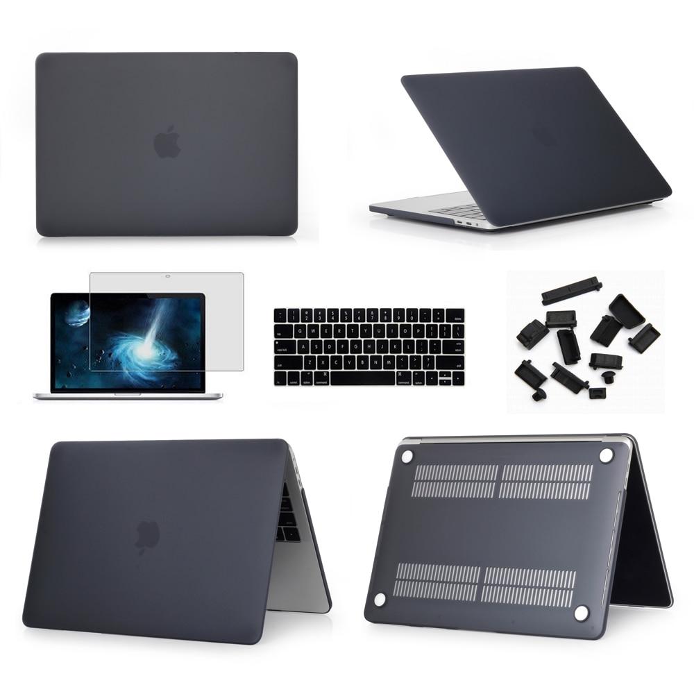 Manga para Macbook Novo Cristal Duro Fosco Case Capa Air 11 A1465 – ar 13 Polegada A1466 Pro 13.3 15 A1278 Retina A1502