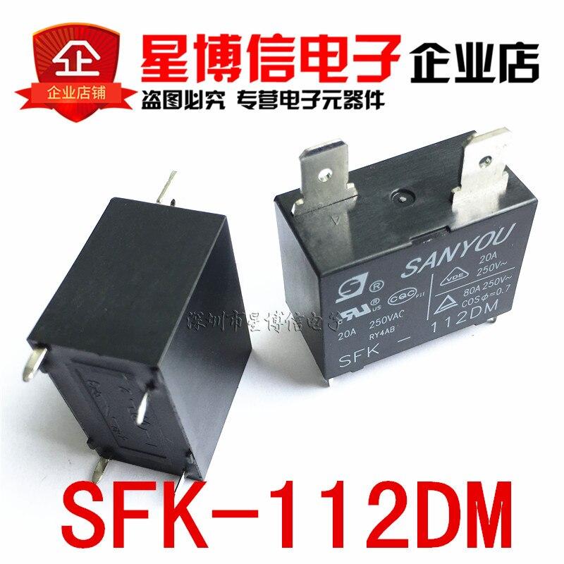 شحن مجاني 10 قطعة 100% جديد و الأصلي SANYOU تتابع SFK-112DM 12V 20A 250VAC ل مكيف الهواء DC البسيطة قوة التقوية