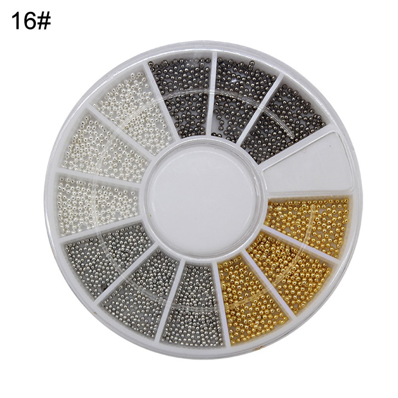 Nuevo decoración 3D para uñas herramienta de manicura DIY para decoración de uñas con cuentas de rueda de colores bonitos