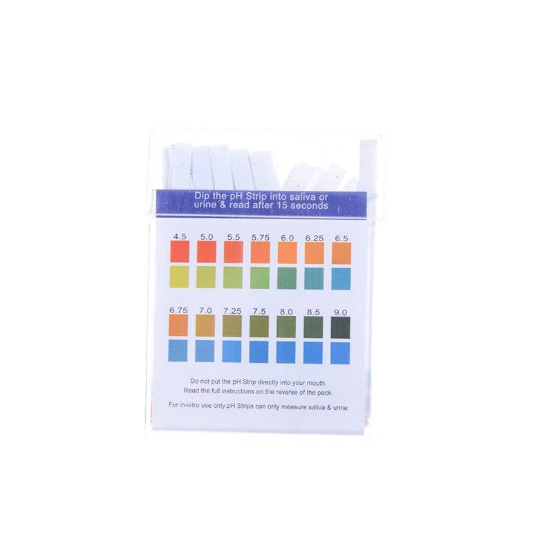 100 unids/pack profesional litorus papel Ph tiras de prueba PH 4,5 9,0 agua cosméticos suelo papel para prueba de PH tiras con tarjeta de Control