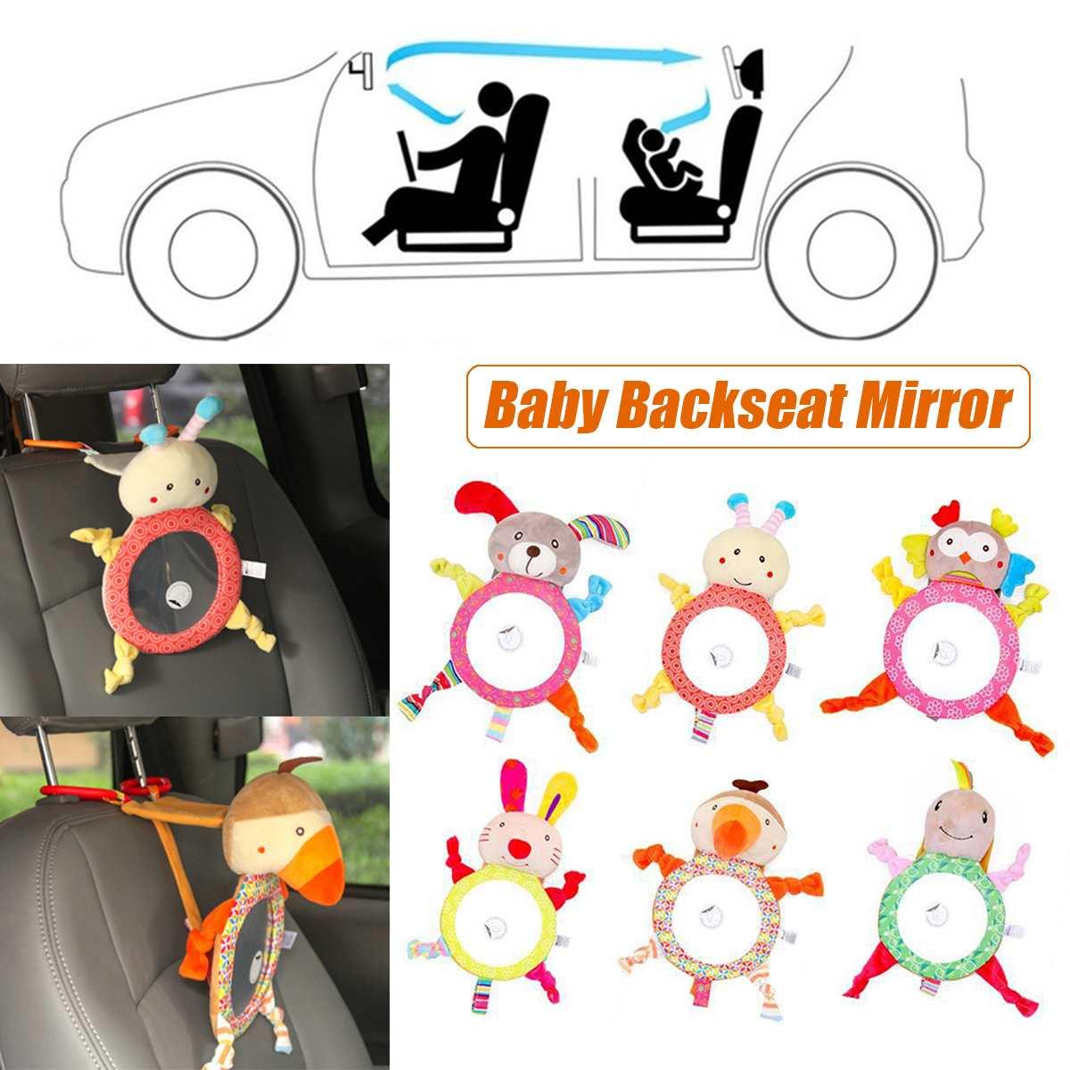 Регулируемое зеркало заднего вида для безопасности автомобиля для новорожденных, зеркало для пола с изображением животных, зеркало для заднего сиденья для детей