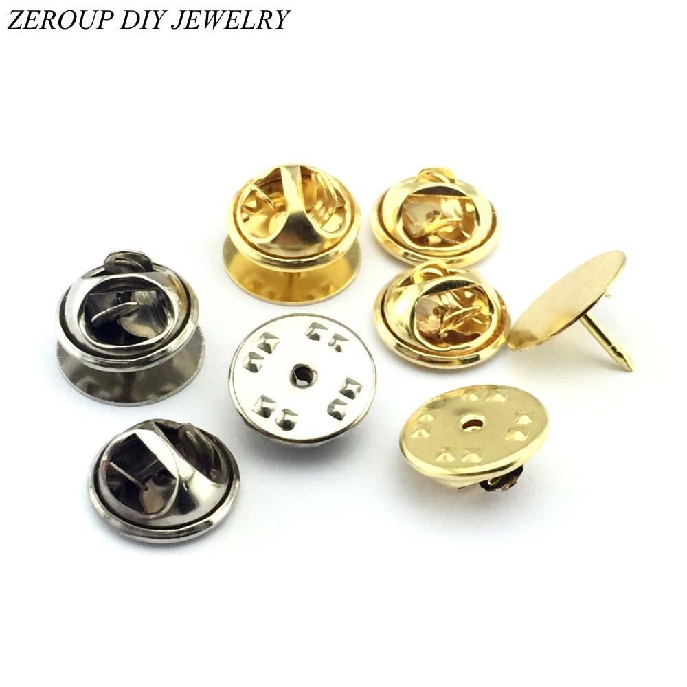 20sets/lot Gold Silver Color Color Brooch Base Holder Brooch Pin Badge Holder For Diy Jewelry Making Finding 12mm Cabochon Bas