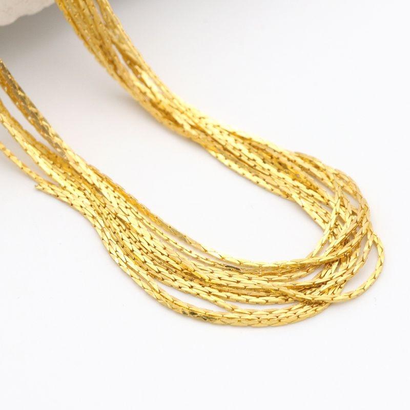 5 metros Ouro Prata Cor de Cobre Corrente de Metal de Cobra Para Fazer Resultados Da Jóia Pulseira Colar Acessórios Diy Atacado