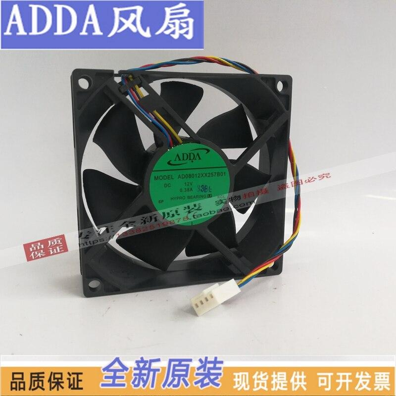 جديد ADDA AD08012XX257B01 8025 12 فولت 8 سنتيمتر 4 خطوط PMW الصمت مروحة التبريد