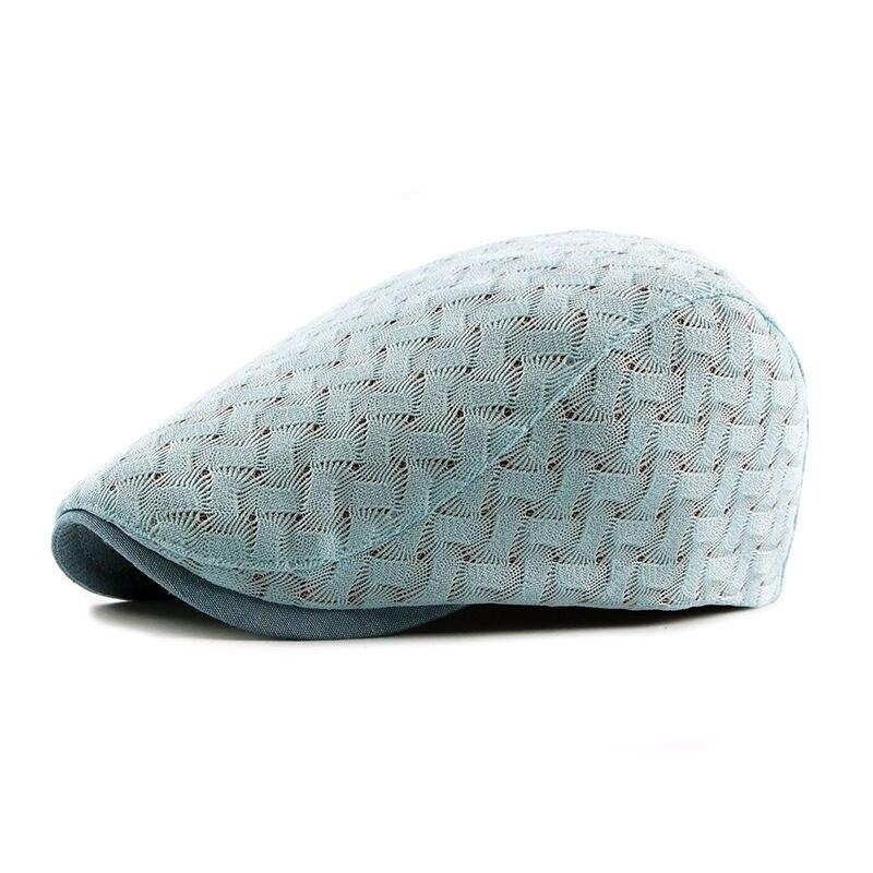 ¡Novedad de 2018! sombreros de punto de malla respirable de alta calidad estilo francés gorra plana de taxista para mujeres adultas Primavera Verano gorra Newsboy