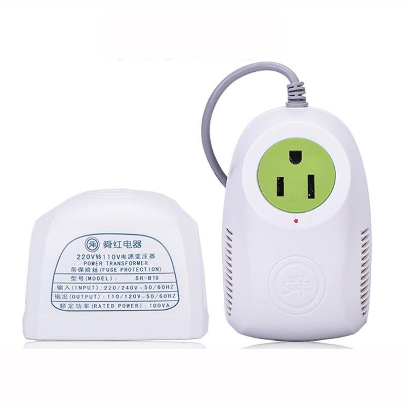 Convertidor de voltaje de fuente de alimentación 100 w AC220v a AC110v transformador pequeño