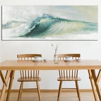 abstract ocean waves seascape canvas painting traditional art scenery wallpaper modern wall picture poster for living room