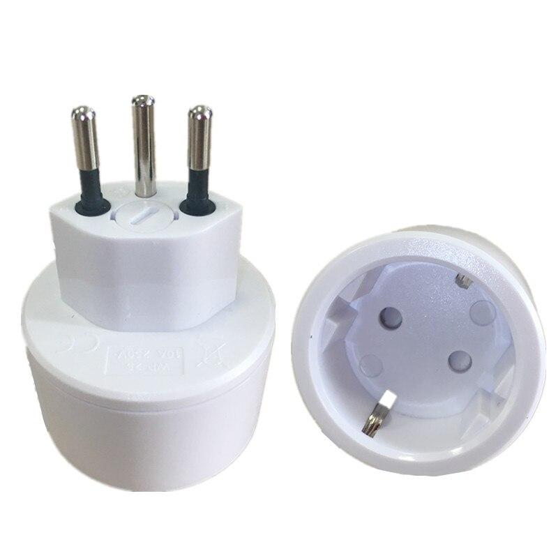 Adaptador de viagem universal europ ue para swiss plug adaptador de alimentação ue para suíça suíça plug adaptador 10a 250v swiss 3 pinos plug