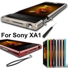 Copertura del telefono mobile per sony xperia caso di xa1 In Lega di Alluminio Del Respingente + laccio per Sony Xperia Xa1 metallo fame XA1 daul caso