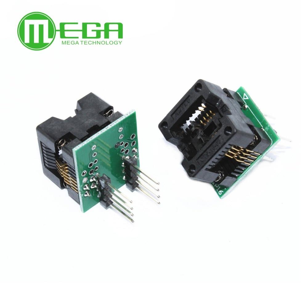 1pcs SOP8 to DIP8 SOP8 turn DIP8 SOIC8 to DIP8 IC socket Programmer adapter Socket for wide 150mil /208mil