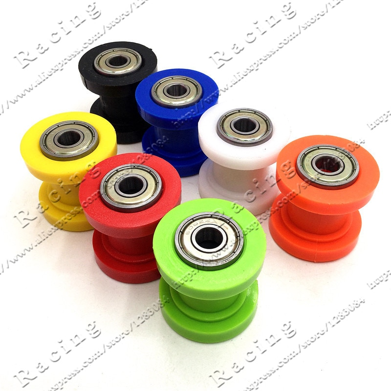 2 pçs de 8mm 10mm rolo de corrente slider tensor guia da roda pit sujeira mini moto atv alta qualidade m8 m10 frete grátis