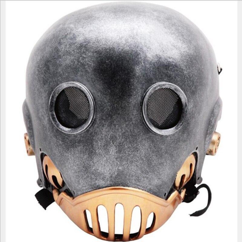 Neue Cos Hellboy Baron Clockworker Kroenen Cosplay Helm Harz Maske Halloween Flammen Geist Horror Requisiten Maske