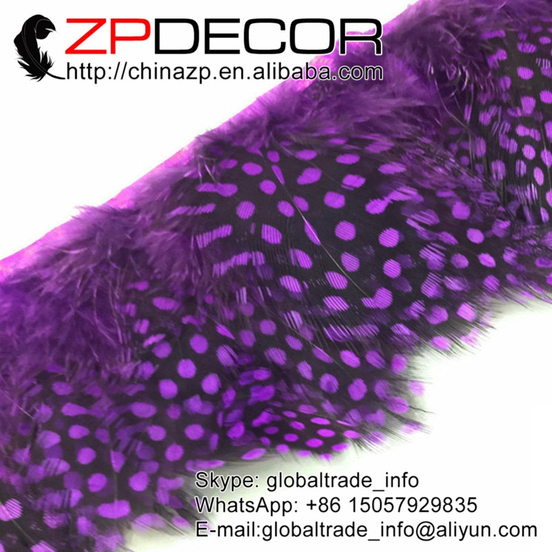 Proveedor Líder ZPDECOR, oferta barata, 1-3 pulgadas, 10 yardas/lote, falda de corte de plumas teñidas de Guinea