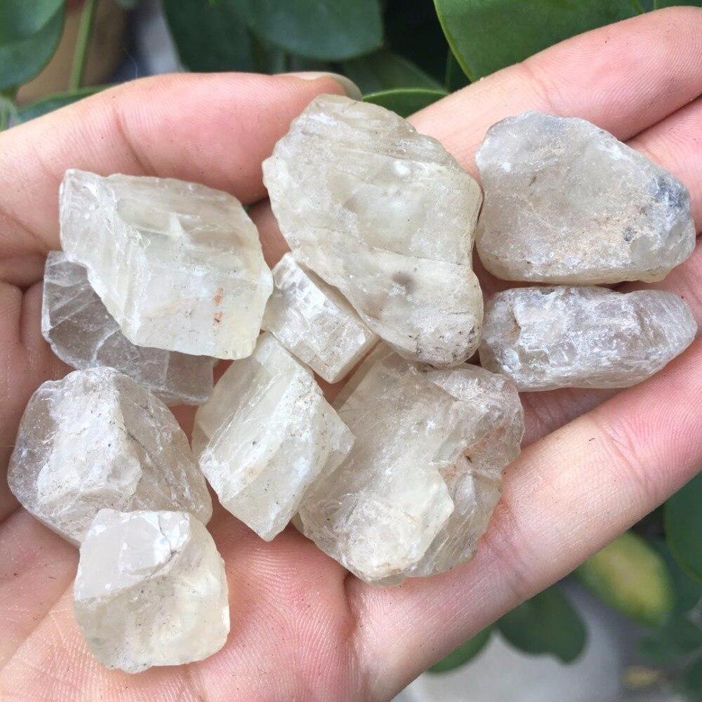 Piedra Lunar Natural en bruto y puro de 100g, piedra lunar caída, cristales de cuarzo natural, piedra de energía para curación