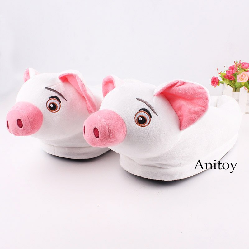 Moana Pua Pig Moana Pua Plush Toys Plush Shoes Home House Winter Stuffed Slippers for Children Women Men 28cm