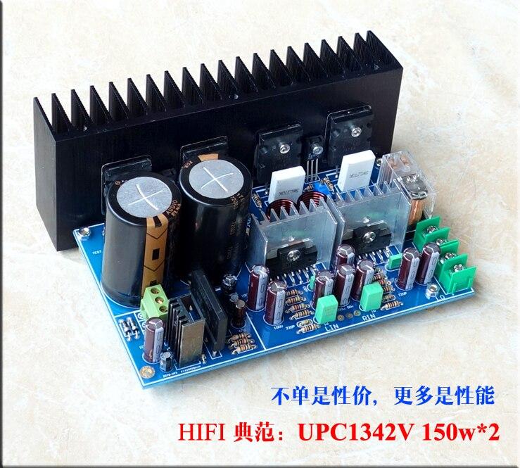 A5 UPC1342V + Original 2SC5200 2SA1943 150w * 2 canal de potencia dual amplificador kit de bricolaje tablero terminado