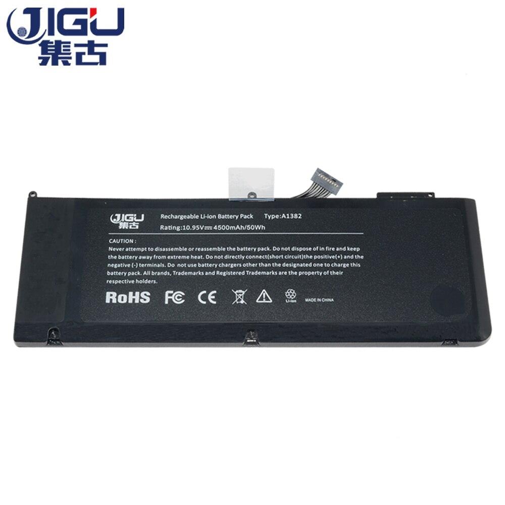 "Jigu a1382 bateria para apple macbook pro unibody 15 ""(a1286) mb985ll/a mb986ll/a mc118zp/a"