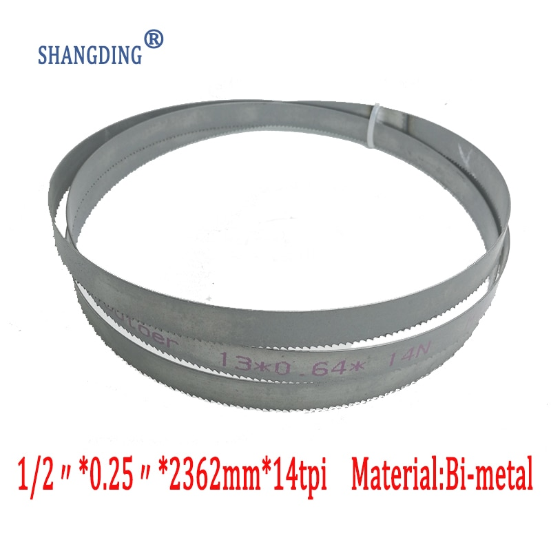 "2362*13*0,65 * 14tpi M42 sierra de cinta bimetal para corte de metal envío gratis 1/2 ""x 0,25"" x 14tp * 93"""