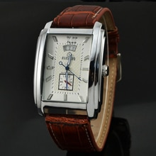 Brand Tags  Watches Men Leather Strap Automatic Mechanical Men Watches Casual Wristwatch Small Secon