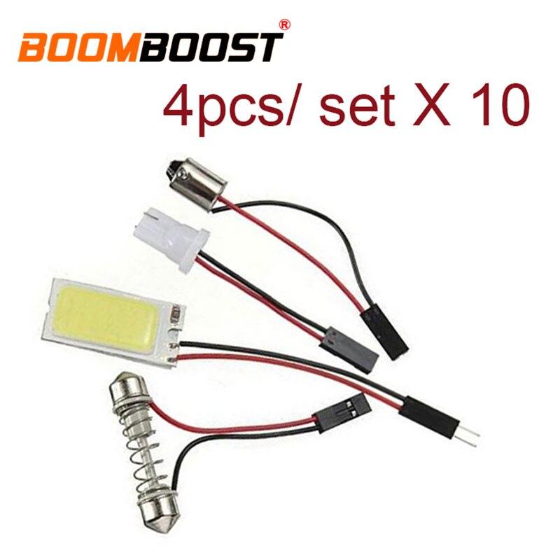 10x 5w t10 12v branco com painel de alumínio escudo leitura interior luz adaptador dome lâmpada led carro cob 21 chip festoon