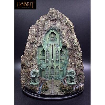 Juguete de 27cm El hobbit Erebor Puerta de montaña solitario figura de resina juguete colección modelo de decoración de escritorio regalo