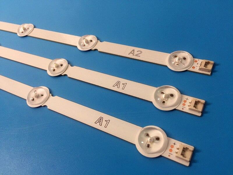 (New kit) 3pcs(2*A1*7LEDs 1*A2*8LEDs) 630mm LED backlight strip for TX-L32B6B 6916L-1295A 6916L-1296A 1204 1205A