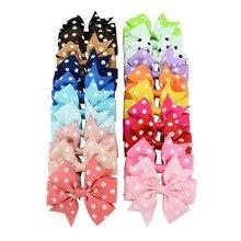 Lazos de cinta de grogrén con pinza de cocodrilo para niña y niño, accesorios para el cabello de Boutique, 3 pulgadas, 1 unids/lote