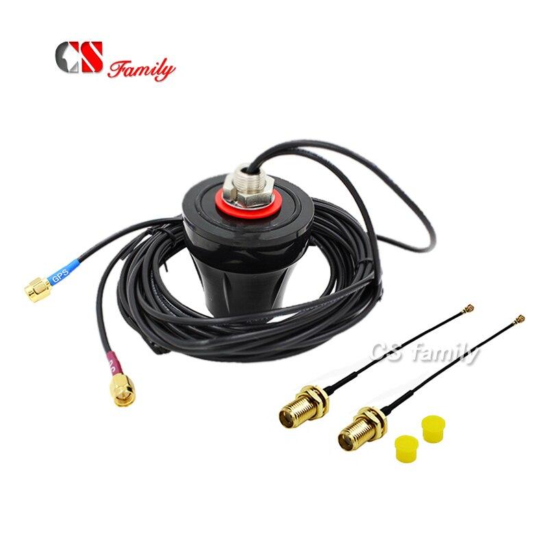 Antena impermeável sma de 3g gps a ipex com 2 pces ipex ao cabo 100mm de sma