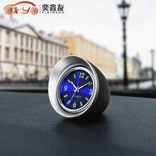 Reloj de cuarzo para coche luminoso YIXINYOU, reloj Interior para automóvil, relojes de aguja digitales creativos para automóvil (6,3)