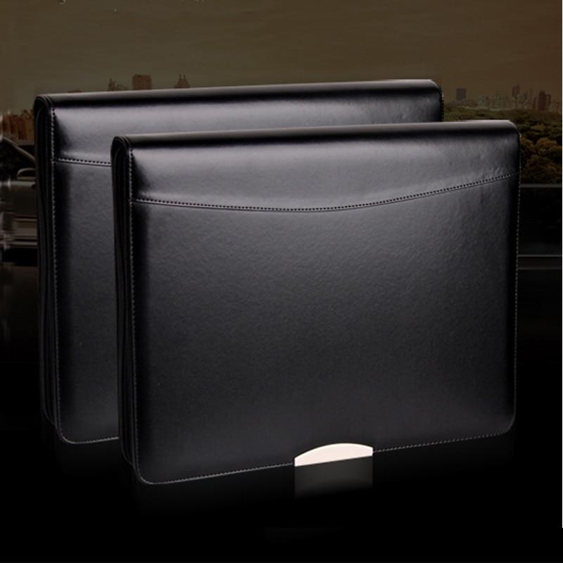 Кожаная папка для файлов a4, портфель на молнии, портфель, портфель формата A4, деловая Бриллиантовая папка с металлическим декоративным лист...